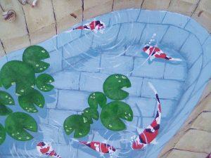 Trompe l'oeil - bassin à poisson