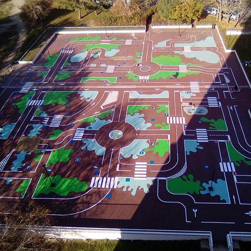 Initiatives77 - Réalisation de la piste cyclable pédagogique à Melun