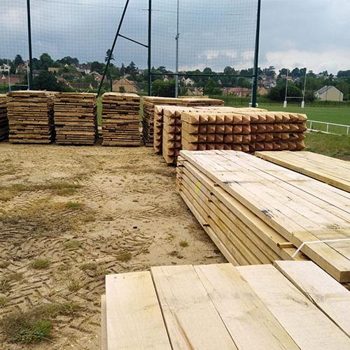 Initiatives77 - Réception du bois pour le platelage