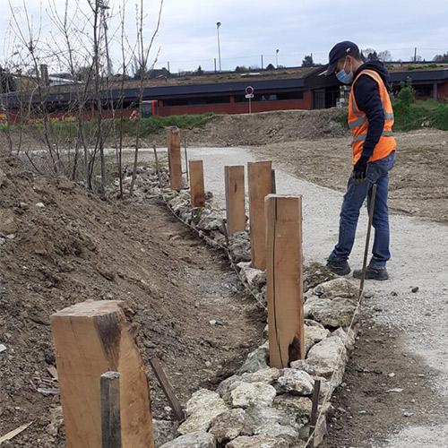 Initiatives77 - Création d'un muret en pierres sèches