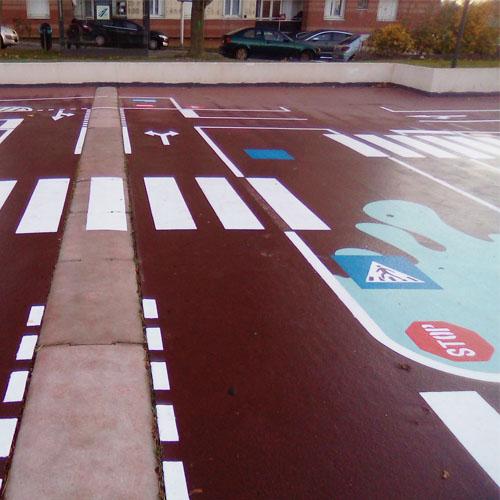 Initiatives77 - Réalisation de la piste cyclable pédagogique