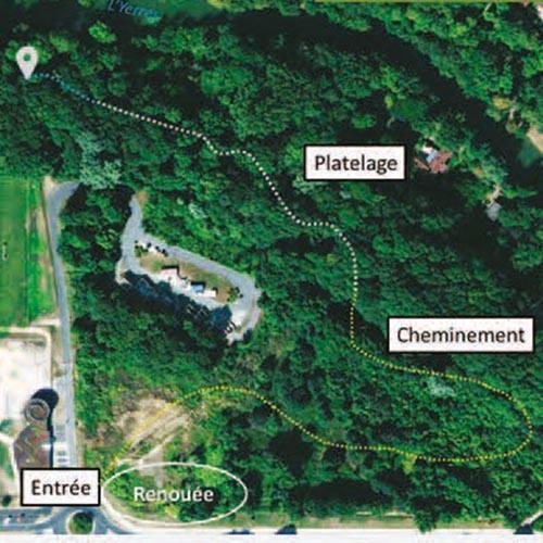 """Initiatives77 - Plan du chantier de réhabilitation de la zone naturelle """"La couture"""""""