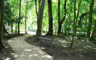 La création d'un cheminement dans le Parc de la Marsange à Tournan-en-Brie