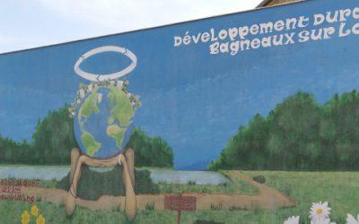 La réalisation d'une fresque sur le parcours de « La Scandibérique » à Bagneaux-sur-Loing