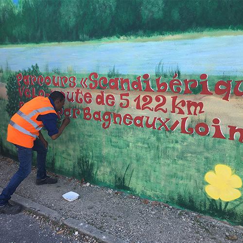 Initiatives77 - Réalisation de « peinture en lettres »