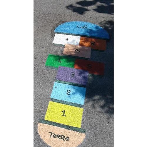Initiatives77 - Réalisation de peinture au sol dans la cour d'école (marelle)