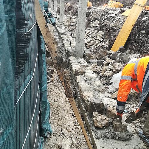 Initiatives77 - Rénovation du mur du cimetière du Bourg à Mitry-Mory (pendant)