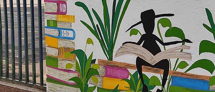 Actualité Initiatives77 : Réalisation d'une fresque sur les murs de l'école de la Tour d'Aleron à Combs