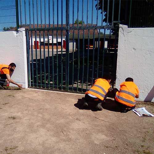 Initiatives77 - Mesure et préparation du mur