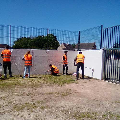 Initiatives77 - Nettoyage du mur