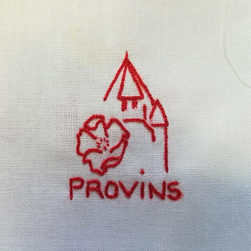 Initiatives77 - Prototype de logo en broderie