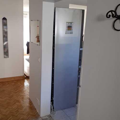 Initiatives77 - Adaptation accès intérieur cuisine/couloir (après)